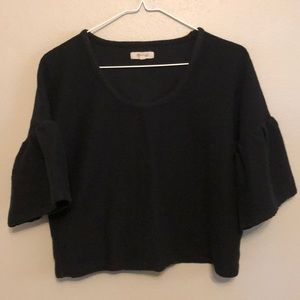 Madewell Texture And Thread Gathered Sleeve Top